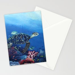Keep Our Sea Plastic Free Stationery Cards