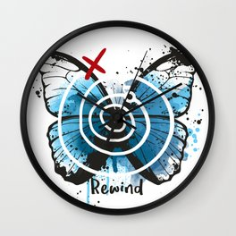 Rewind butterfly life is strange Wall Clock