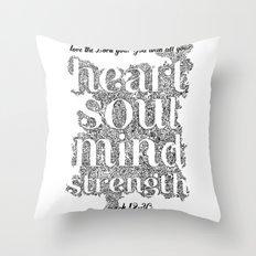 Mark 12:30 Throw Pillow