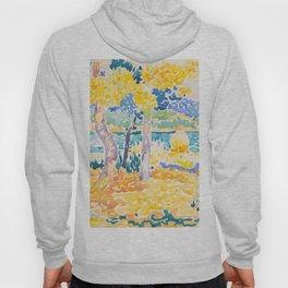 Pines on the Coastline Henri-Edmond Cross Neo-Impressionism Pointillism Watercolor Painting Hoody