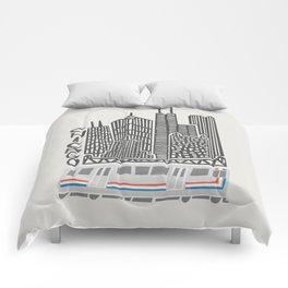 Chicago Cityscape Comforters