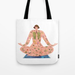 Healing with Nature Tote Bag