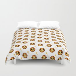 Boo Pumpkin Halloween Design Duvet Cover