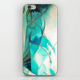 Teal on Silk iPhone Skin