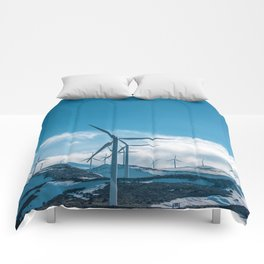 The Wind Farm (Color) Comforters
