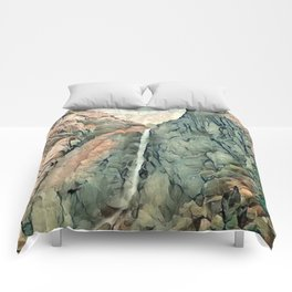 Yosemite Waterfall Comforters