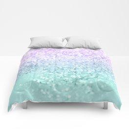 Mermaid Girls Glitter #1a (2019 Pastel Version) #shiny #decor #art #society6 Comforters