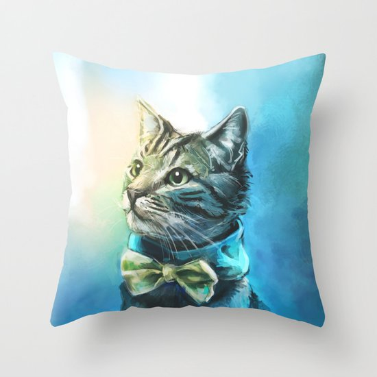 Handsome Cat Throw Pillow