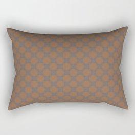 Dark orange, grey  & rose - Oil color textured pattern V Rectangular Pillow