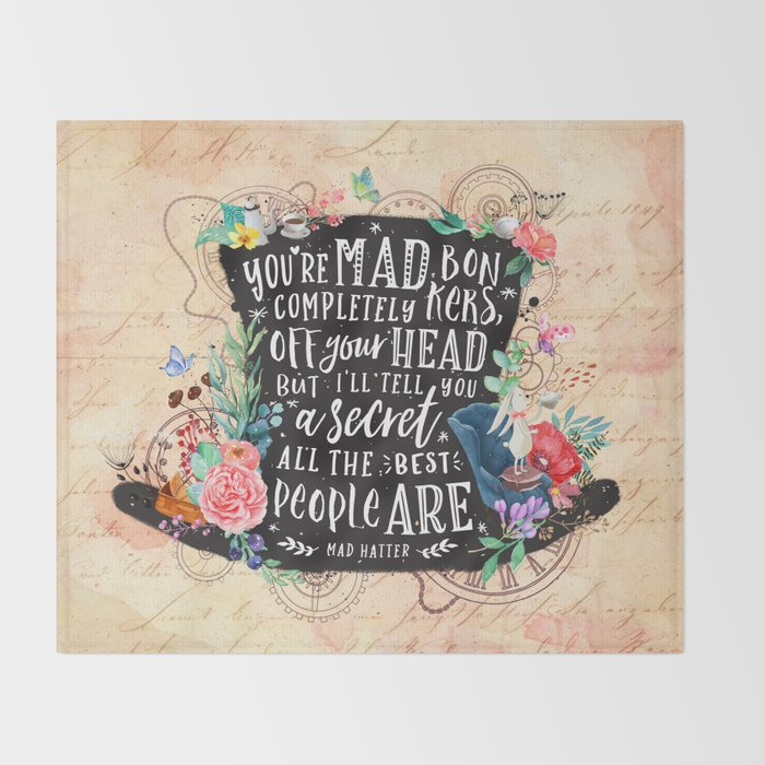 Mad Hatter Throw Blanket