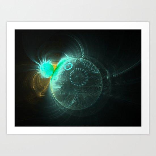 Glowing Balls Art Print