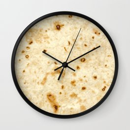 Burrito Baby/Adult Tortilla Blanket Wall Clock