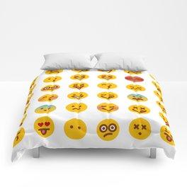 Cute Set of Emojis Comforters