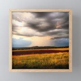 Stormy Fields Framed Mini Art Print