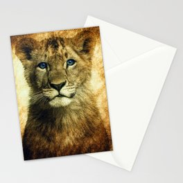 Blue eyed Lion Stationery Cards