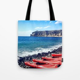 Greek Kayaks Tote Bag