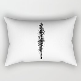 Alone in the forest - a solitary, towering Douglas Fir tree Rectangular Pillow