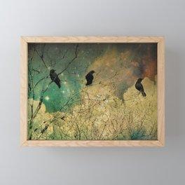 Retro Clouds Framed Mini Art Print