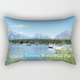 Grand Teton National Park. Landscape photography. Rectangular Pillow