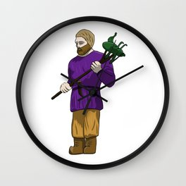 St Urhos Day Depiction Of Saint Urho Graphic design Wall Clock