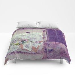 Abandoned house Comforters