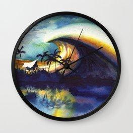 Storm ridge Reef Wall Clock