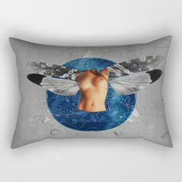 Wonder Wood Dream Mountains - The Demon Cleaner Series · When The Night Comes Down Rectangular Pillow