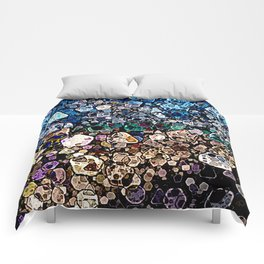 Abstract Geometric Shapes Comforters