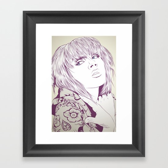 Thinking about something Framed Art Print