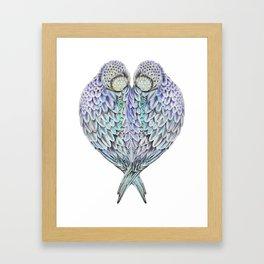 LOVE BIRDS IN COLOUR Framed Art Print