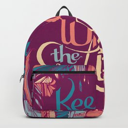 Keep Me Where The Light Is (John Mayer lyric) on Pink Backpack
