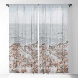 capri, italy Sheer Curtain