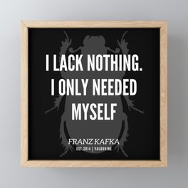 83   |  Franz Kafka Quotes | 190517 Framed Mini Art Print