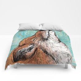 The Happiest Fox Comforters