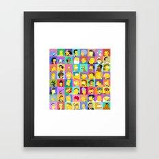 Simpsons Framed Art Print