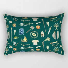 Lord of the pattern green Rectangular Pillow