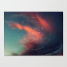 Kiss The Sky II Canvas Print