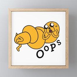 Oops Jake made a Booboo Framed Mini Art Print