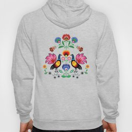 Polish Folk With Decorative Floral & Cockerels Hoody