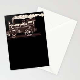 Locomotive Railway Steam Train Conductor Stationery Cards