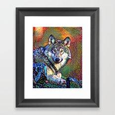 Aura of the Wolf Framed Art Print
