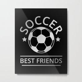 Soccer Best Friends II Metal Print