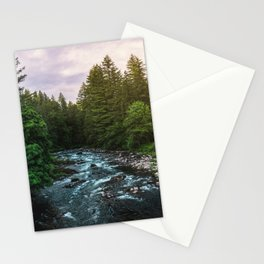 PNW River Run II - Pacific Northwest Nature Photography Stationery Cards