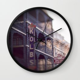 Morning Light in the French Quarter Wall Clock