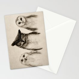 The Owl's 3 Stationery Cards