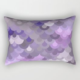 Purple Scales Rectangular Pillow
