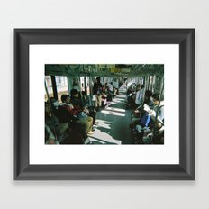 Train daze Framed Art Print