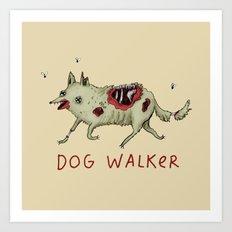 Dog Walker Art Print