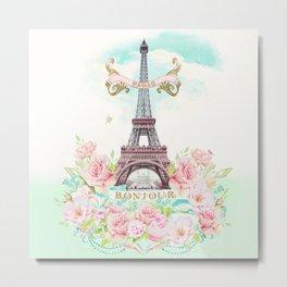 Eiffel Tower in Spring Metal Print