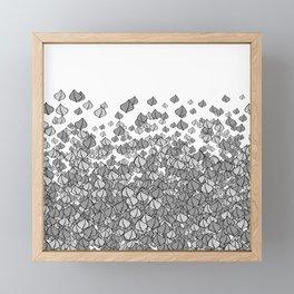 Leaf Blower B&W Framed Mini Art Print